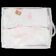 Teddy fehér alapon rózsaszín nyuszis háromrészes szett díszdobozban