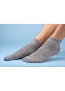 Felnőtt rövid szárú zokni melange szürke