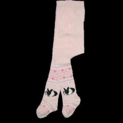 Mintás bébi harisnyanadrág rózsaszín nyuszis