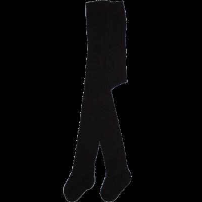 Egyszínű bébi harisnyanadrág fekete