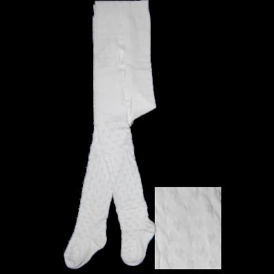 Mintás bébi harisnyanadrág 3D sok szíves fehér