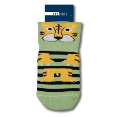 Kíméletes gumis bébi bokazokni tigris