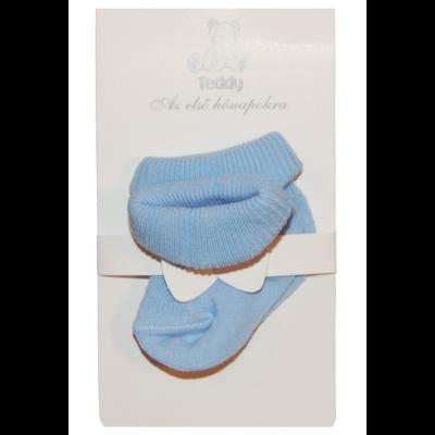 Teddy bébi pamut zokni világoskék