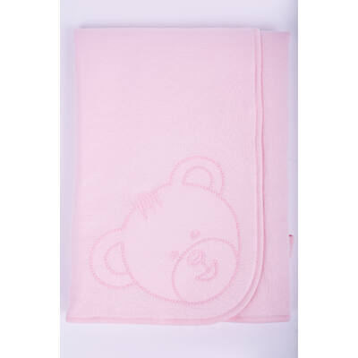 Teddy rózsaszín takaró