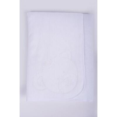 Teddy fehér takaró