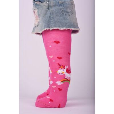Bébi harisnyanadrág pink Unikornis