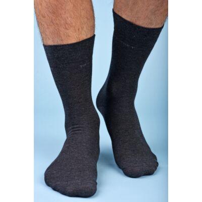 Férfi elegáns bokazokni lágy gumírozással grigio melange
