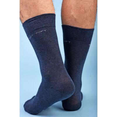 Férfi elegáns bokazokni lágy gumírozással blu marino