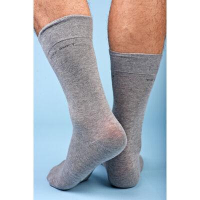 Férfi elegáns bokazokni lágy gumírozással grigio chiaro