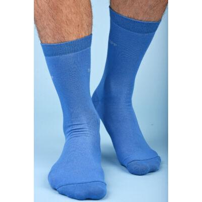 Férfi egyszínű azur kék bokazokni TOPP Design