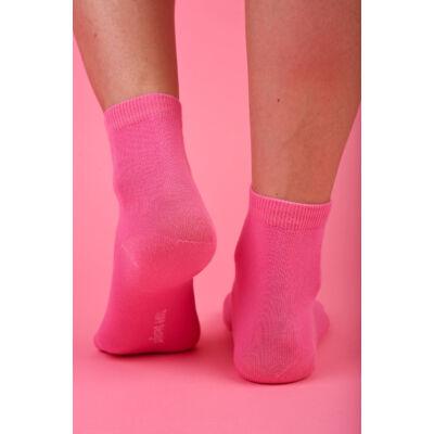 Egyszínű női bokazokni Jenny rózsaszín