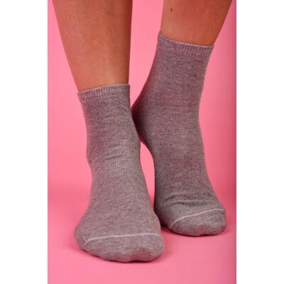 Egyszínű Női dobozos zokni melange középszürke