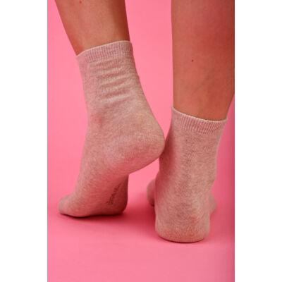 Egyszínű Női dobozos zokni melange beige