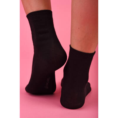 Egyszínű Női dobozos zokni fekete