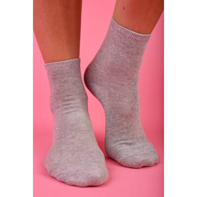 Egyszínű Női dobozos zokni melange szürke