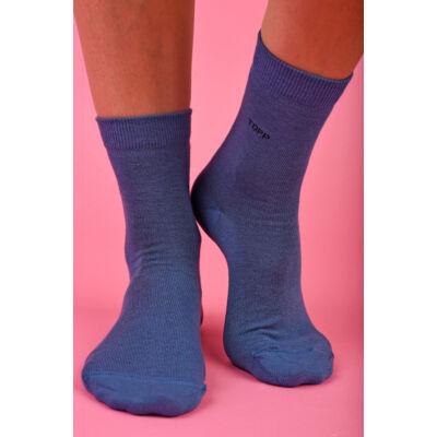 Női egyszínű bokazokni TOPP Design farmer kék
