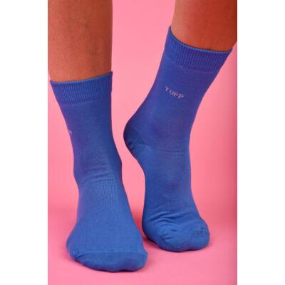 Női egyszínű bokazokni TOPP Design azúr kék