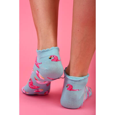 Női titokzokni Flamingó - Unikornis
