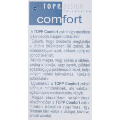 Comfort elasztikus bokazokni drapp