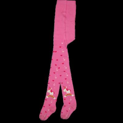 Mintás gyermek harisnyanadrág rózsaszín Unikornis