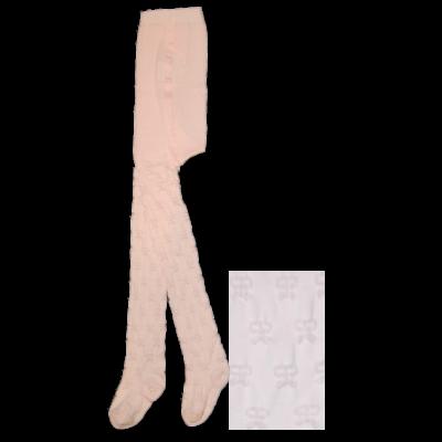 Mintás gyermek harisnyanadrág 3D rózsaszín masnis
