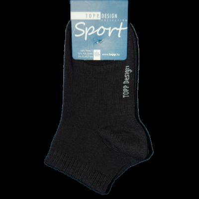 Gyermek rövid állású egyszínű zokni sötétkék