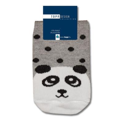 Mintás gyermek bokazokni panda