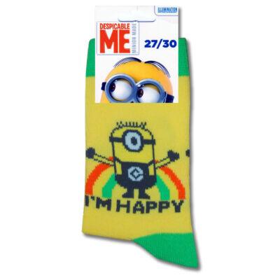 Minyonok gyermek import bokazokni I am Happy