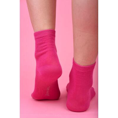Egyszínű női bokazokni Jenny pink