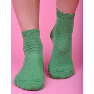 Egyszínű női bokazokni Jenny zöld