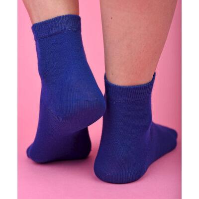 Egyszínű női  bokazokni Jenny kék