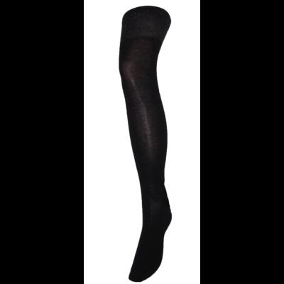 Női fekete térd feletti zokni lurex