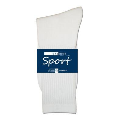 Sportzokni elasztikus fehér