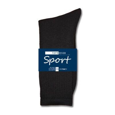 Sportzokni elasztikus fekete