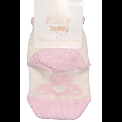 Teddy bébi bokazokni rózsaszín