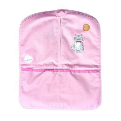 Cica óvodás ruhatartó zsák rózsaszín