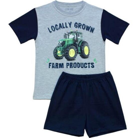 Fiú pizsama traktor 104