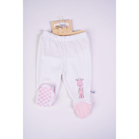 Safari fehér nadrág rózsaszín talppal