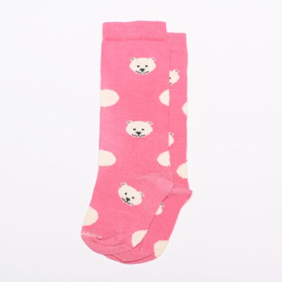 Bébi térdzokni rózsaszín macik