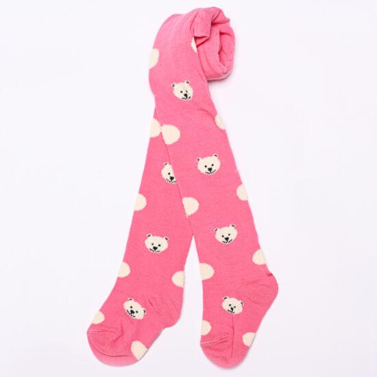 Bébi harisnyanadrág rózsaszín sok maci