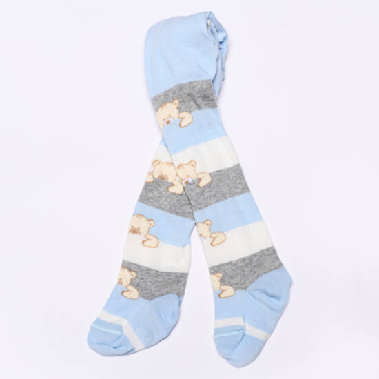 Teddy harisnyanadrág kék-szürke maci csíkos