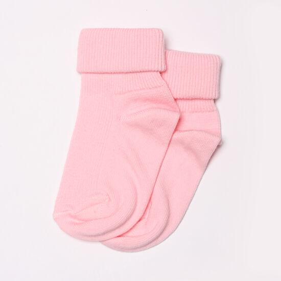 Baba zokni/Bokazokni visszahajtott rózsaszín
