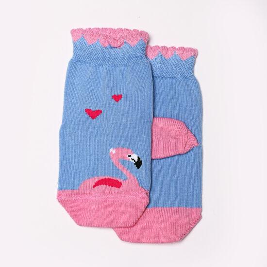 Baba zokni/Bokazokni v.kék flamingó