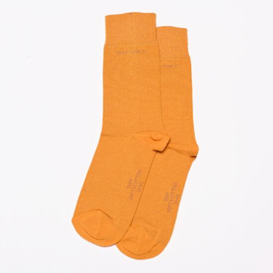 Felnőtt bokazokni lágy gumírozással mustard