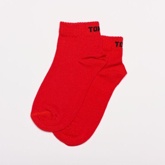 Gyermek rövidszárú piros (fekete felirat)