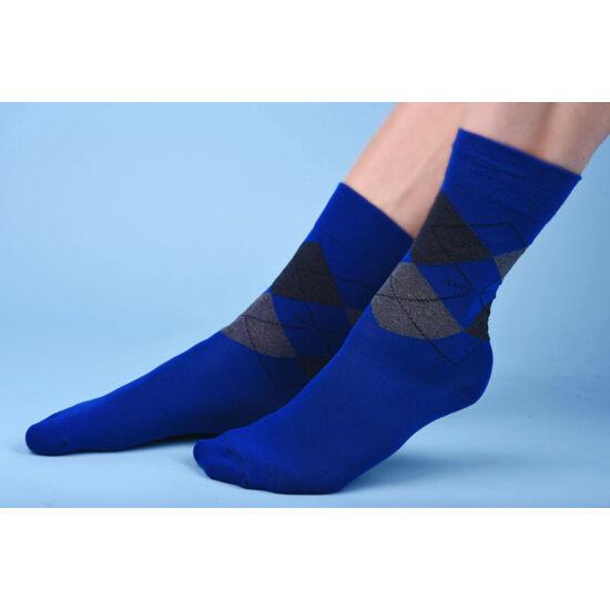 Kárókockás bokazokni lágy gumírozással scacchi blue