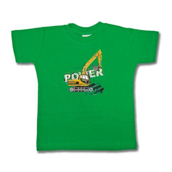 Mintás gyermek póló Daru zöld