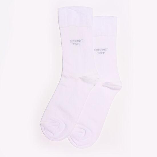 Comfort elasztikus bokazokni fehér