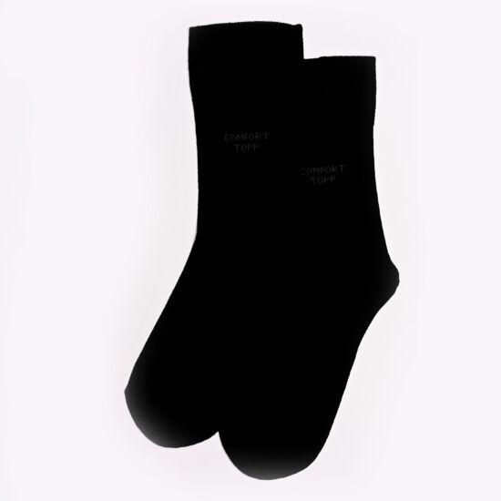 Comfort elasztikus bokazokni fekete