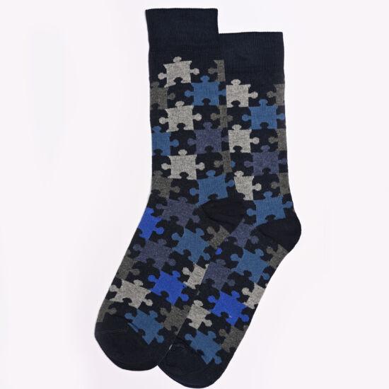 Női bokazokni kék puzzle